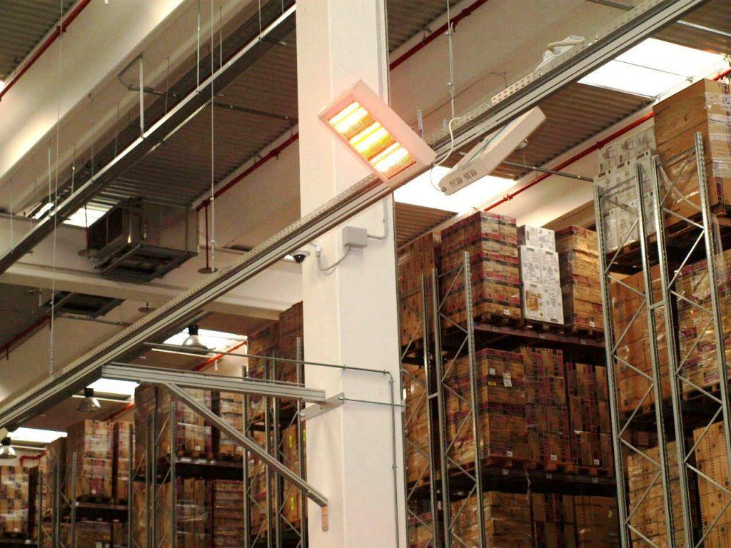 Lampade infrarossi irraggiamento fabbriche postazioni lavoro