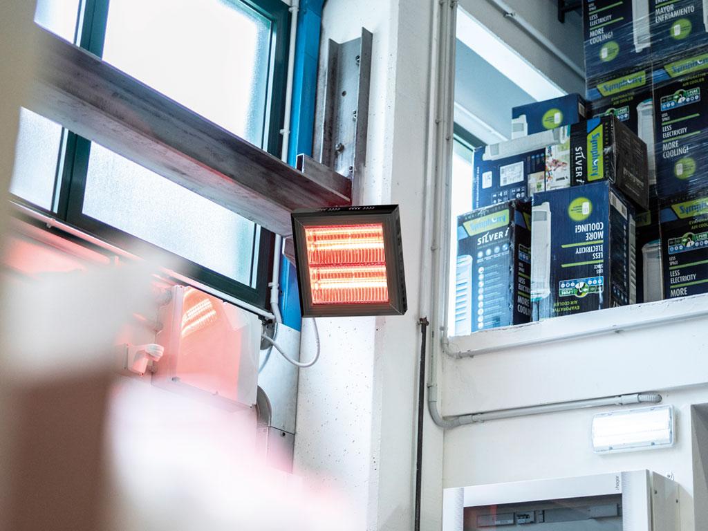 Riscaldamento irraggiamento lampade